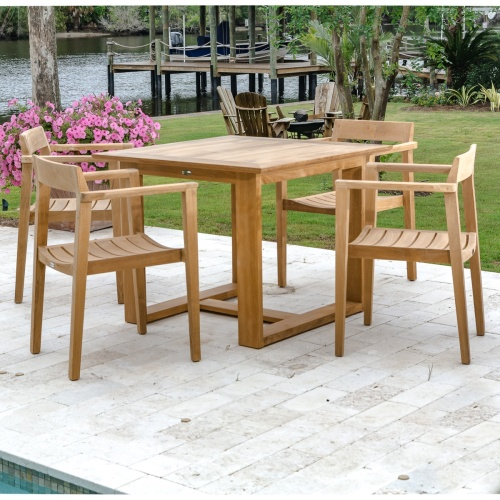 Horizon 5 Pc Dining Set; Danish Modern Teak ...