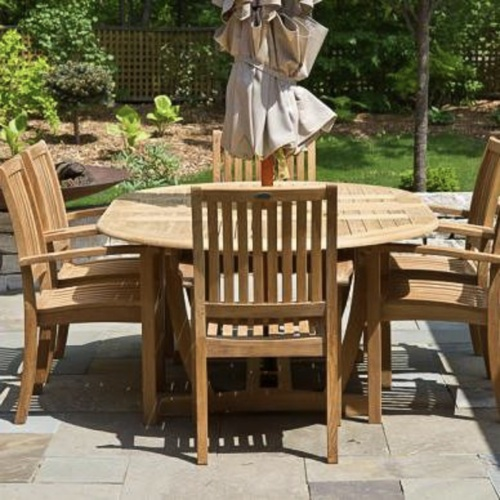 Sussex Teak Dining Set for 6