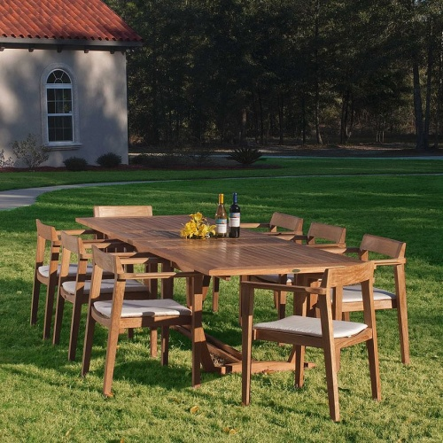 Grand Horizon Teak Dining Set for 8