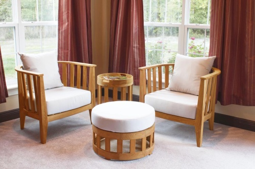4 pc teak lounge sets