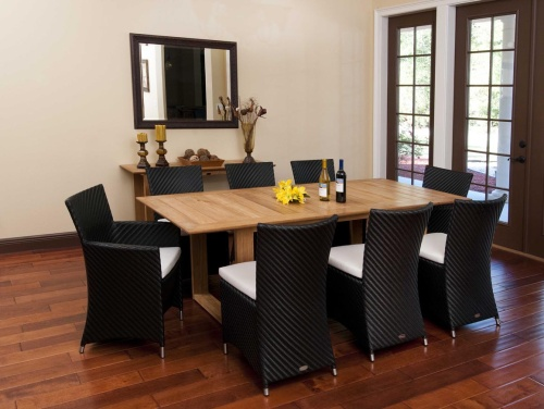 Horizon Teak and Wicker Indoor Set