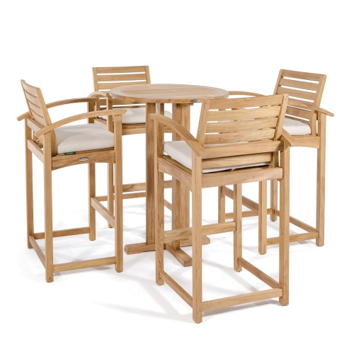 5pc Teak Bar Table Set