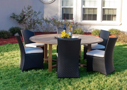 round wicker dining set for 6