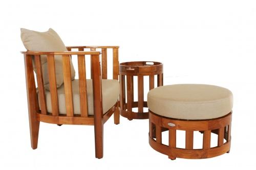 round teak lounge sets