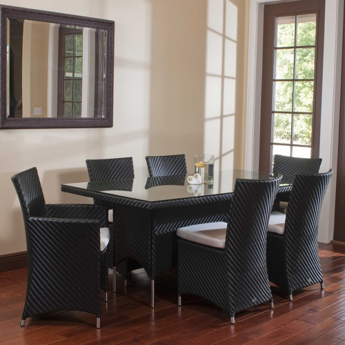 Valencia Wicker Dining Set