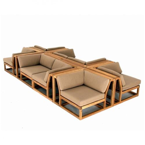 teak deep lounge furniture sets