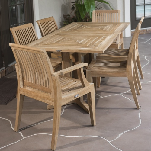 Pyramid Dining Set for 6