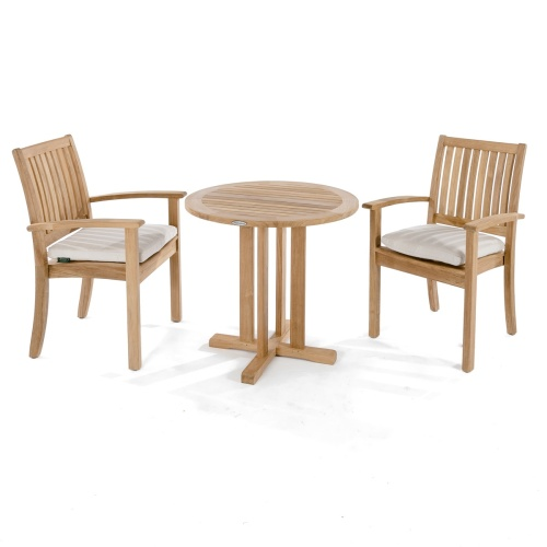 3 pc Wooden Bistro Set