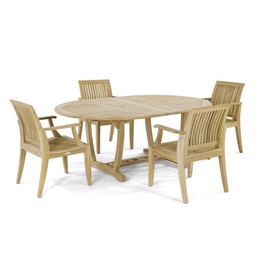 5 pc Teakwood Patio Dining Set