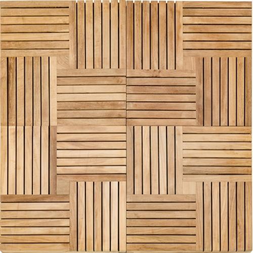 teak parquet wooden tiles