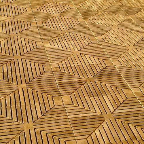 diamond teak tiles