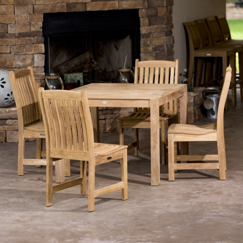 Veranda Square Wooden Bistro Set