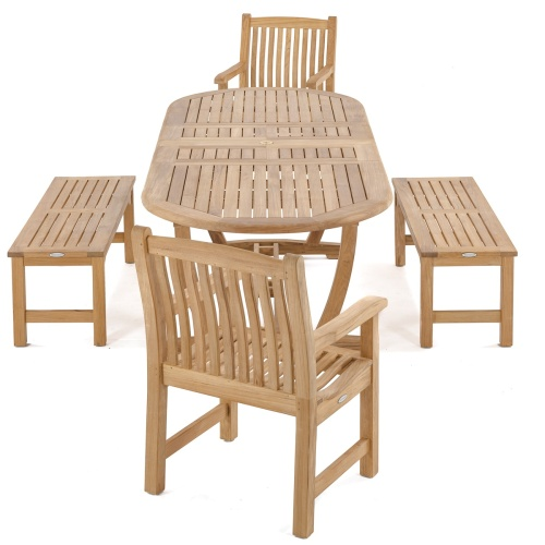 Oval Extendable Picnic Set