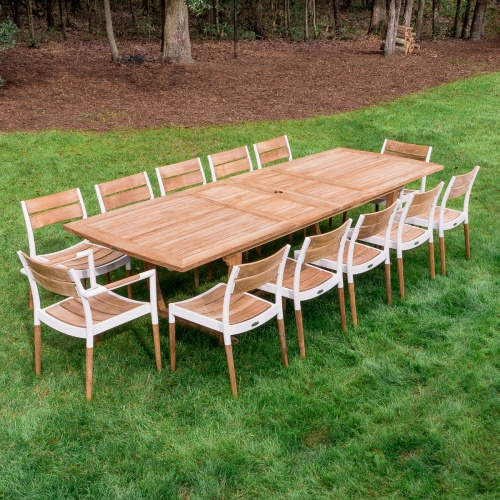 Grand Bloom 13 pc Rectangular Table set