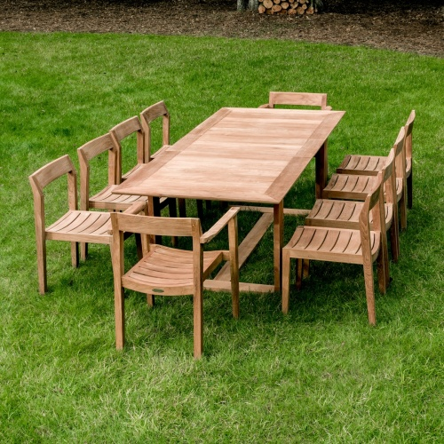 Horizon 11 pc Teak Dining Set