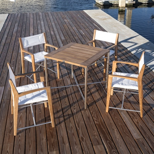 Folding Yacht Dining Set For 4