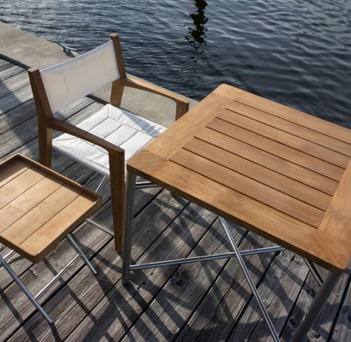 square folding deck set
