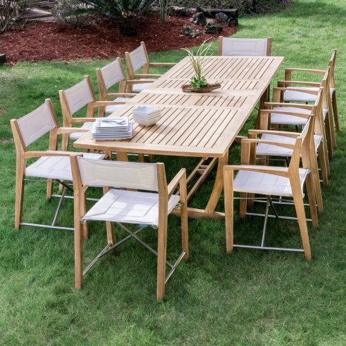 nautical luxurious teak outdoor 11 piece set