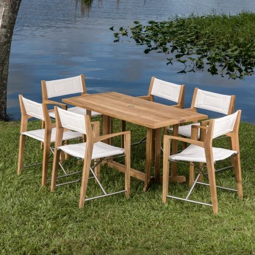 teakwood lakeside patio set