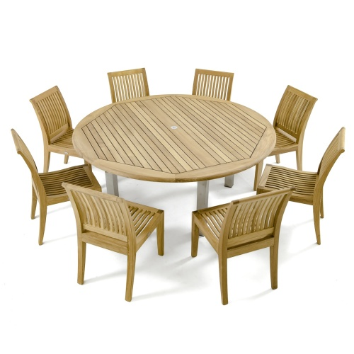 Vogue Laguna Round Dining Set for 8