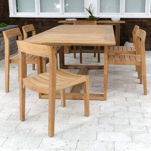 Horizon Extendable Table Sidechair Set for 6