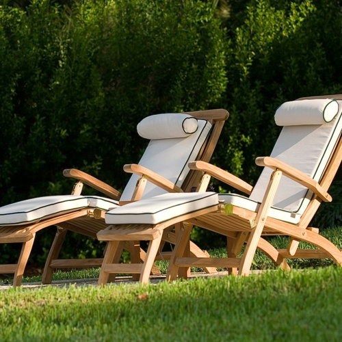 Teak Steamer Chaises; Teak Steamer Chair ...