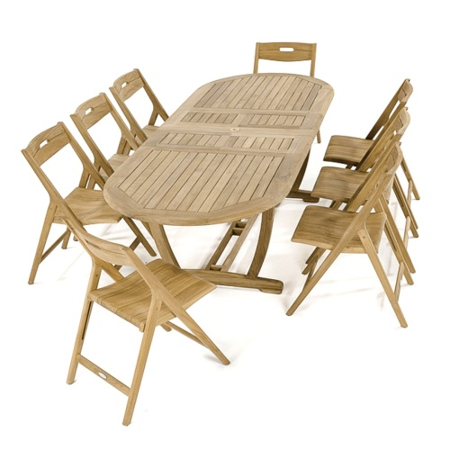 Montserrat Surf 9 pc Oval Dining Set