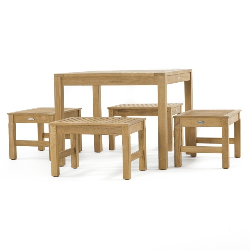 patio square teakwood cafe set dining