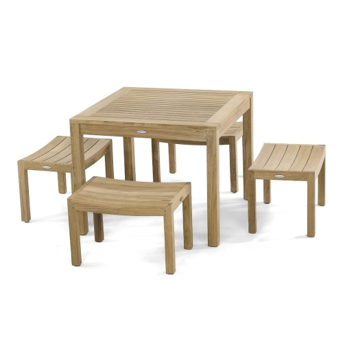 5pc Teakwood Pacifica Cafe Set