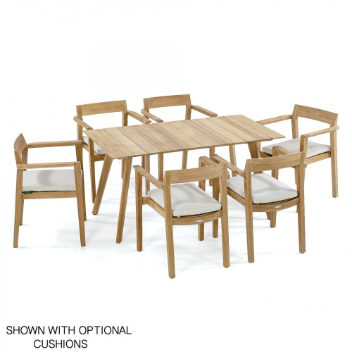 teak outdoor patio seating set 7 pc