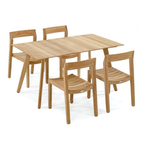 60 Inch Teak Wood Dining Set