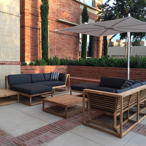 Maya 8pc Teak Sunbrella Lounge Set