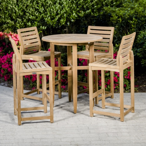 teakwood high bar patio set outdoor
