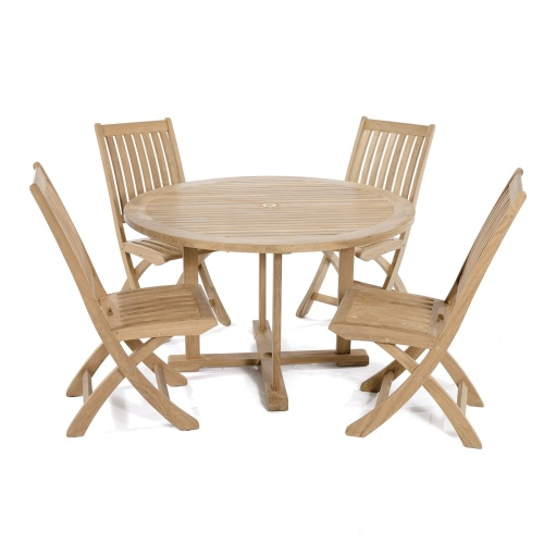 Barbuda 4 ft Round Sidechair Set