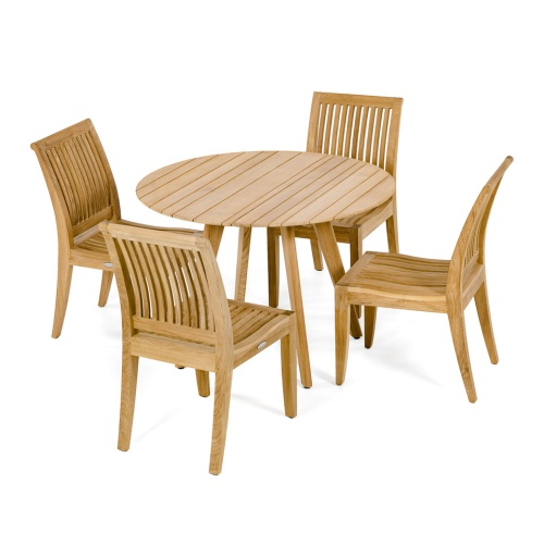 small teak round patio sets