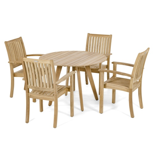 grade a teak outdoor dining patio set