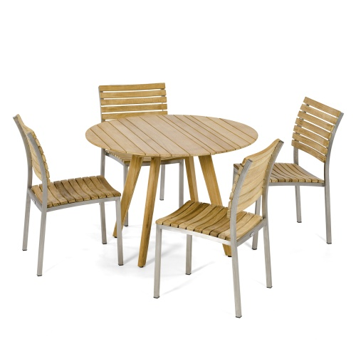 outdoor teak 5 piece dining sets