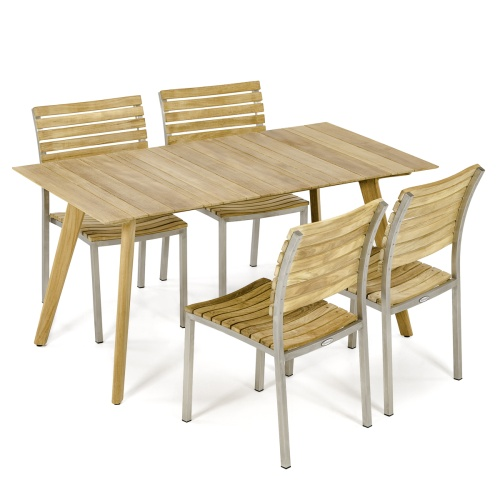 teak 5 piece dining sets