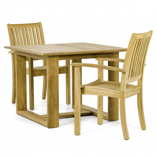 teak patio bistro set