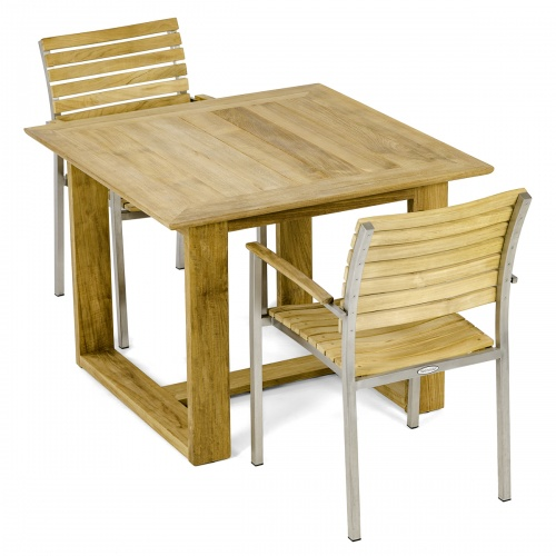 patio teak bistro set for two