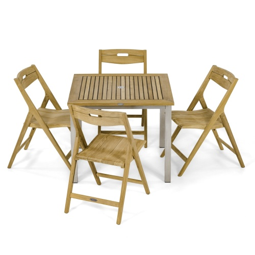 teak square dining sets indoor
