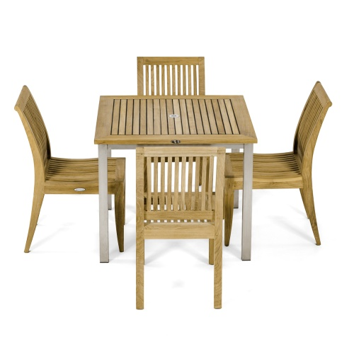 Vogue Laguna teak Side Chair Set