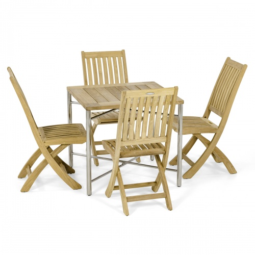 Odyssey Square Barbuda teakwood Side Chair Set
