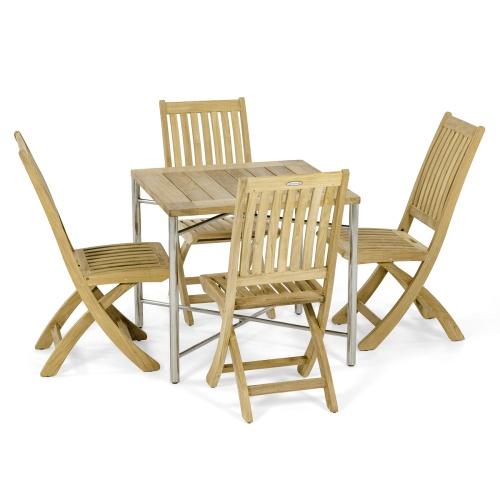 Odyssey Square Barbuda teakwood Side Chair Set