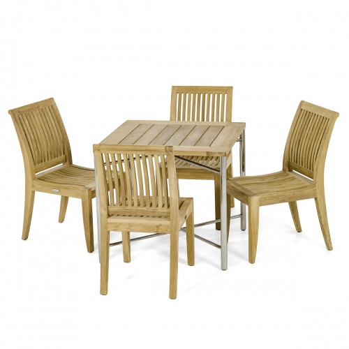 outdoor teak furniture 5 piece set