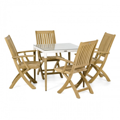 teak aluminum patio furniture