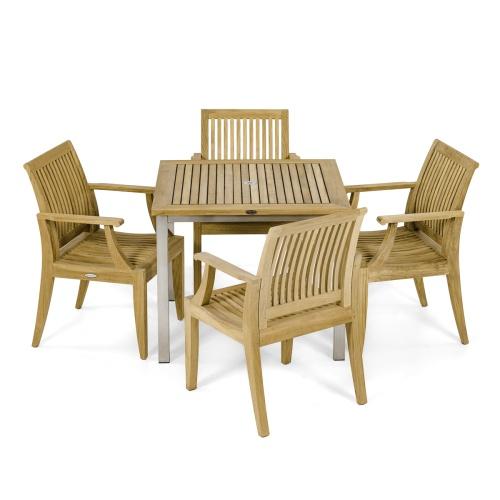 5 pc Garden Dining Chair Set