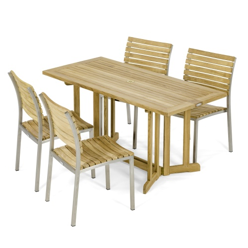 Vogue Nevis Folding Side Chair Set for 4