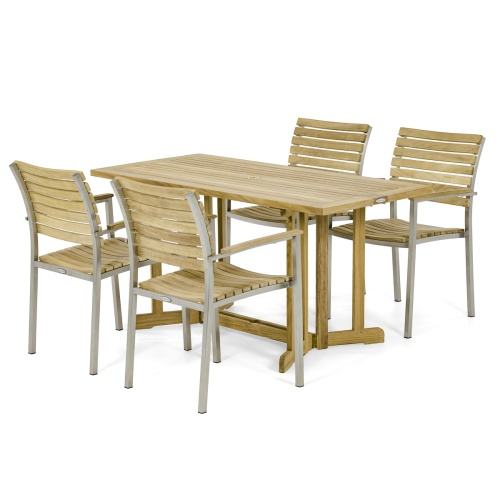 Vogue Nevis Folding Dining Chair Set for 4