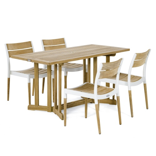 teak aluminum cast patio dining sets